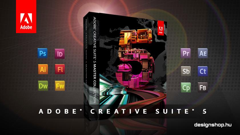 Az Adobe Creative Suite 5 információs oldal