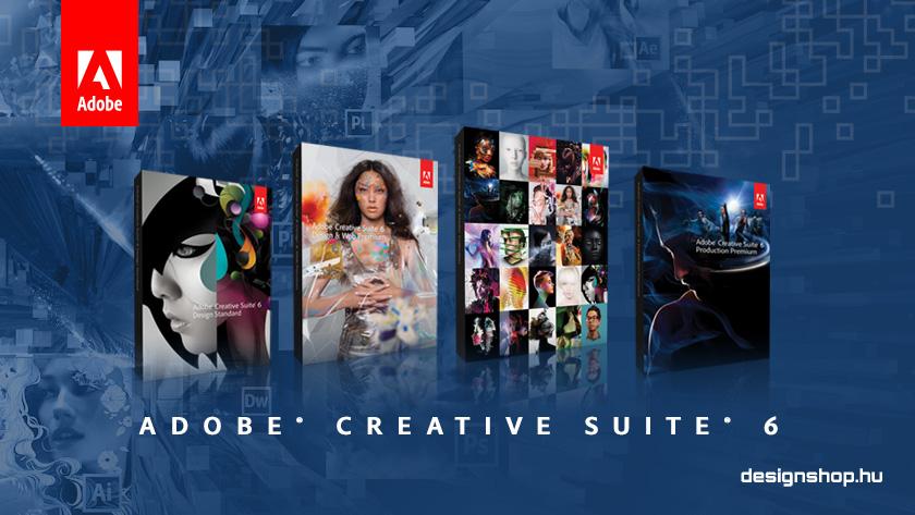 Online a designshop.hu Adobe Creative Suite 6 információs oldala