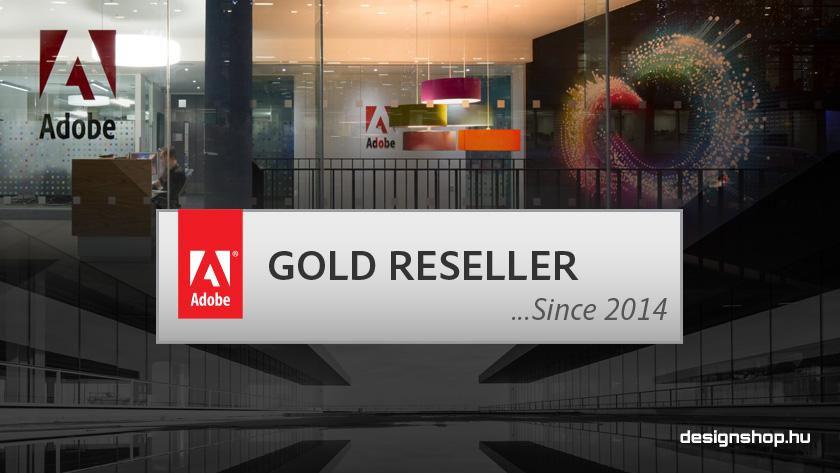 A designshop.hu az Adobe arany fokozatú kereskedője