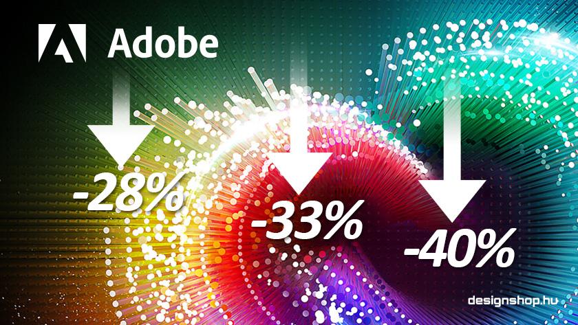 Az Adobe Creative Cloud 40%, 33%, 28% kedvezményekről…
