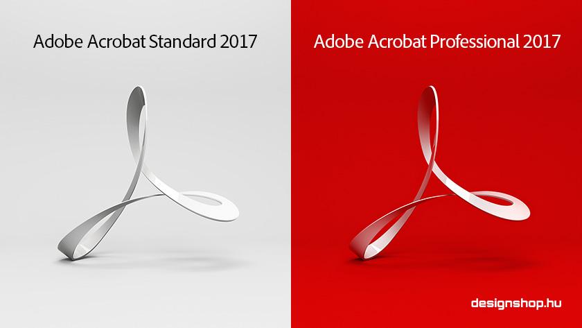 Adobe Acrobat Standard/Pro 2017, új örökös verziók