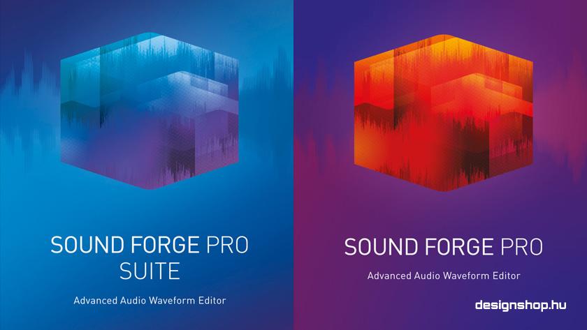 SOUND FORGE Pro 12 és SOUND FORGE Pro 12 Suite