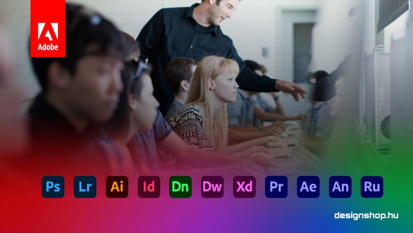Az Adobe Diák/Tanár (Student/Teacher) kedvezményről