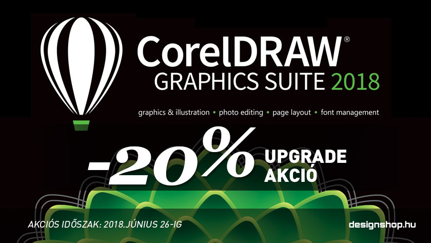 20% kedvezménnyel az utolsó, megszűnő CorelDRAW Graphics Suite Upgrade