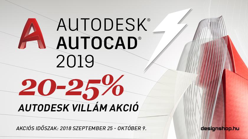 AutoCAD, AutoCAD LT villámakció – 20-25% kedvezmény 2018 okt. 9-ig