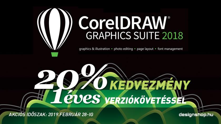 CorelDRAW Graphics Suite 2018 – 20% kedvezmény + 1 éves verziókövetés