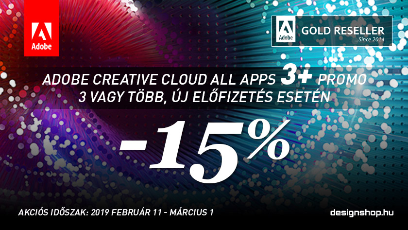 Adobe Creative Cloud 3+ PROMO 2019 I.