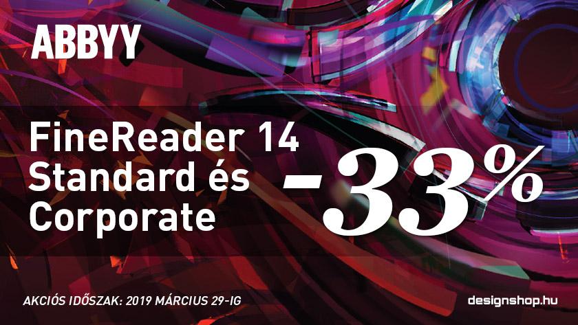 Abbyy FineReader 14 Standard és Corporate 33% kedvezménnyel