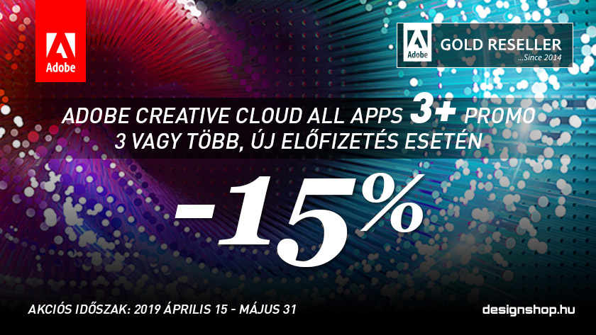 Adobe Creative Cloud 3+ PROMO 2019 II.