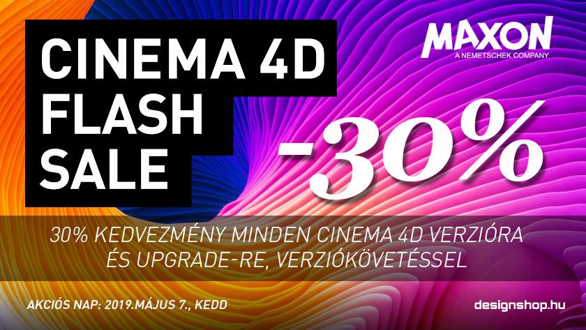 Cinema 4D R20 Flash Sale – 2019 május 7.-én