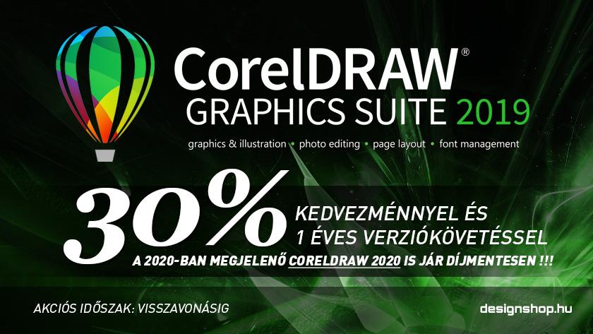CorelDRAW Graphics Suite 2019 + 1 éves verziókövetés 30% kedvezménnyel
