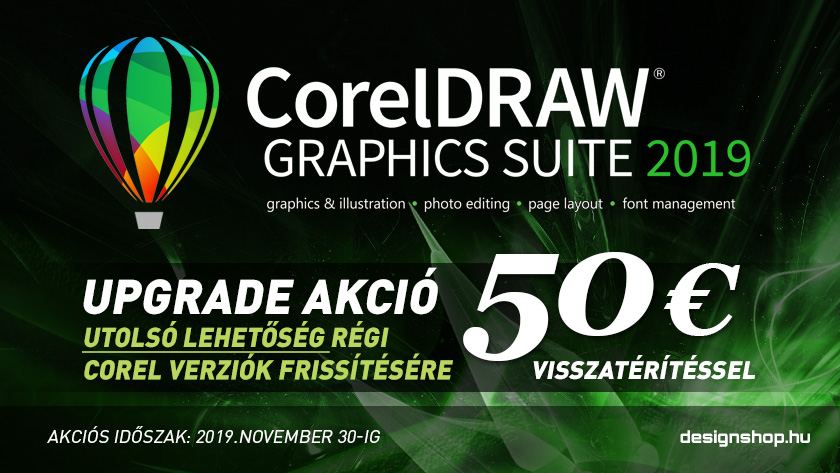 CorelDRAW Graphics Suite 2019 Upgrade Cashback PROMO
