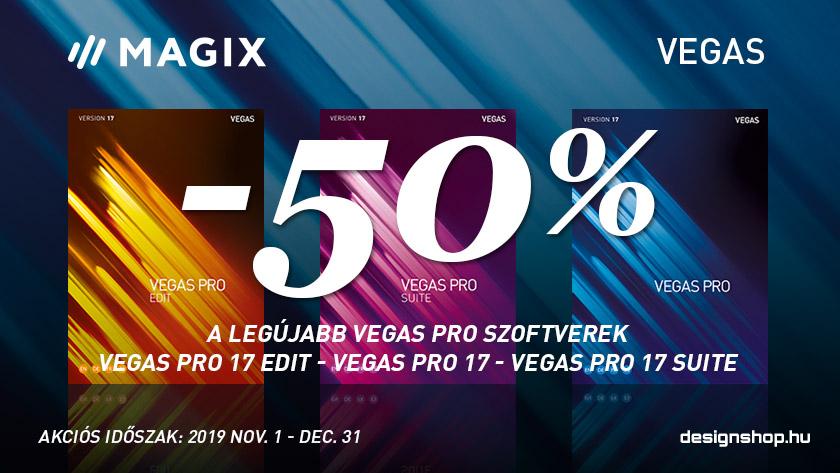 Vegas Pro 17 verziók 50% kedvezménnyel