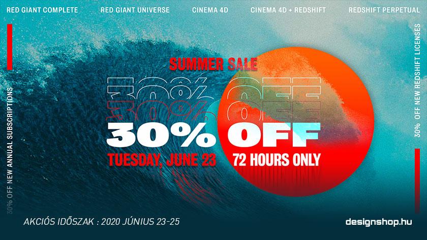 30% kedvezmény a Cinema 4D, Redshift és Red Giant előfizetésekre