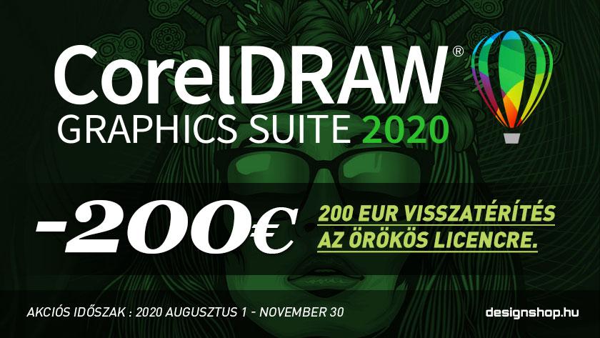 200 Euro kedezménnyel rendelhető a CorelDRAW Graphics Suite 2020