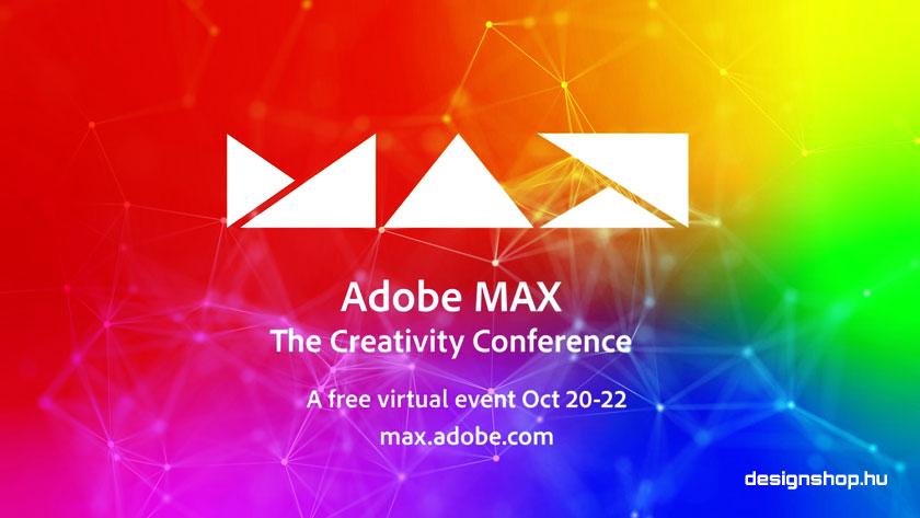 Adobe MAX 2020, ingyenes virtuális konferencia október 20-22