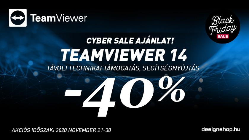 TeamViewer Cyber Sale –  40% kedvezmény november 30-ig