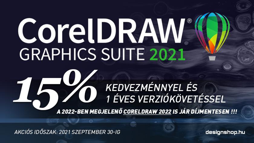 CorelDRAW Graphics Suite 2021 + éves verziókövetés 15% kedvezménnyel